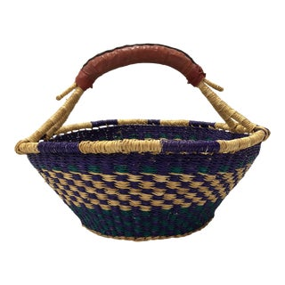 African Rattan Market Basket