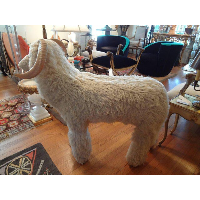 Country Vintage Sheep Sculpture or Bench Inspired by Lalanne For Sale - Image 3 of 10