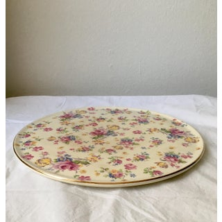 Vintage English Chintz Creamware Serving Plate Preview