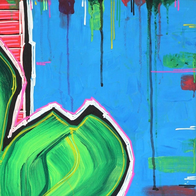 """Abstract """"L.A. All Day Long"""" Original Painting by Jonjo Elliott For Sale - Image 3 of 11"""