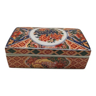Japanese Imari Lidded Porcelain Box
