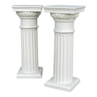 Antique Columns Re-Purposed as Accent Tables - a Pair For Sale