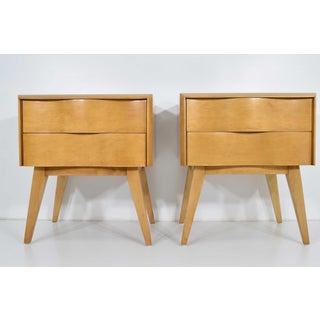 Edmund Spence Wavy Front Nightstands