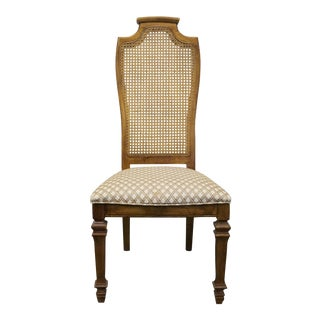 Late 20th Century Vintage Stanley Furniture Treasury II Country French Cane Back Side Chair For Sale