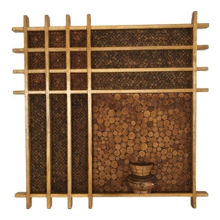 1980s Pencil Reed Wall Sculpture For Sale