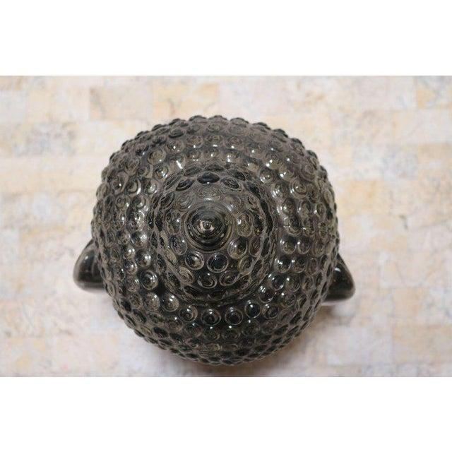 Smoked Glass Buddha Head Sculpture - Image 2 of 7
