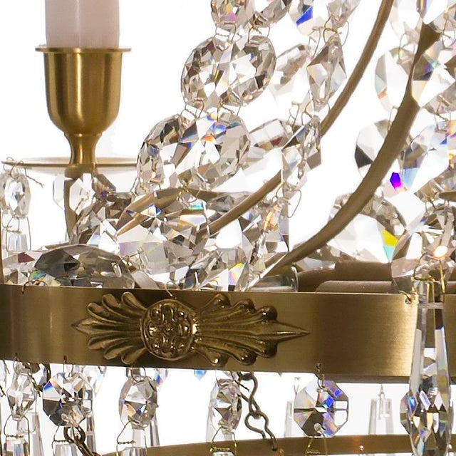 Empire Chandelier - Brass & Crystal - Image 3 of 4