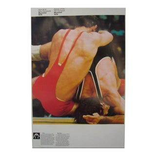 1976 Montreal Olympic Poster, Double-Sided, Boxing/Wrestling - Cojo For Sale