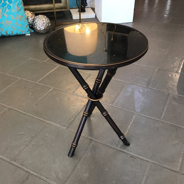Bamboo Bamboo Bronze Finished Side Table For Sale - Image 7 of 7