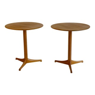 1950s Kerstin Hörlin-Holmquist Triva Nk Teak Side Tables - a Pair For Sale