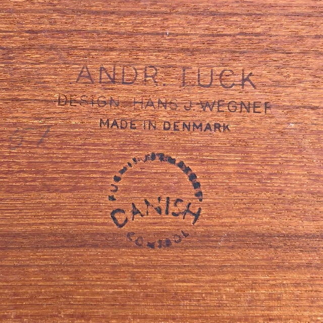 Andreas Tuck Mid-Century Modern Teak Serving Cart by Hans Wegner for Andreas Tuck For Sale - Image 4 of 13