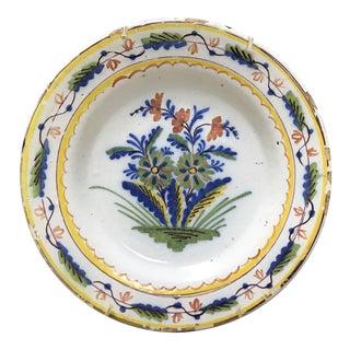 Colorful Dutch Delft Plate #2 For Sale