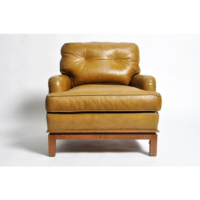 Mid-Century Modern Green Leather Chair by Edward Wormley For Sale - Image 11 of 11