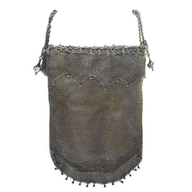 .925 Sterling Silver Mesh Evening Bag Purse - Image 2 of 7
