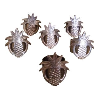 Heyco Inc. Brass Pineapple Napkin Rings - Set of 6