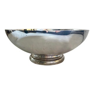 Silver-Plated Large Centerpiece Bowl For Sale