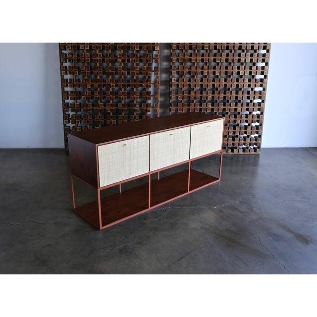 Orange Milo Baughman for Murray Furniture Cabinet C. 1954 For Sale - Image 8 of 13