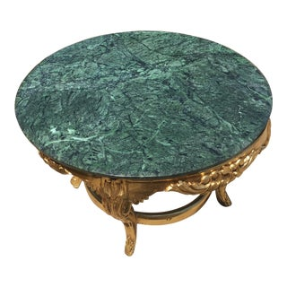 Rococo Marble Topped Coffee Table For Sale