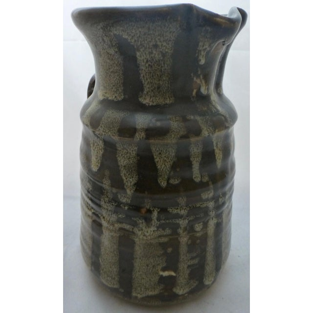 Ceramic Mid-Century Studio Pottery Water Pitcher For Sale - Image 7 of 10