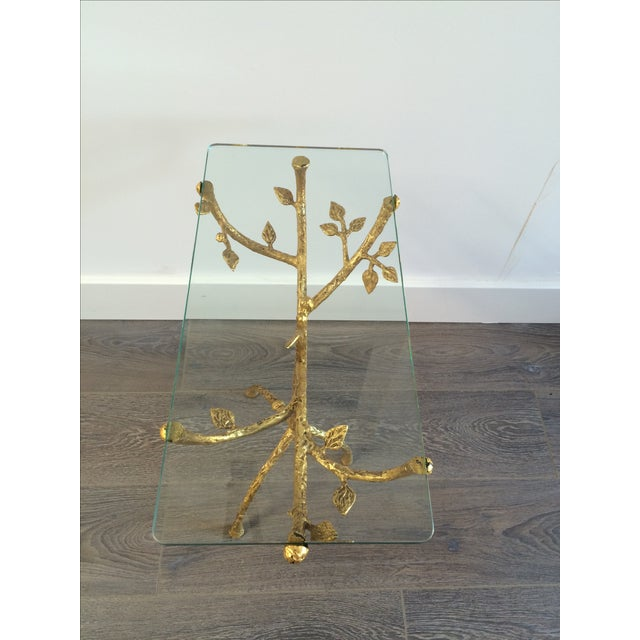 "Gilt Iron Giacometti Style ""Tree"" Side Table - Image 5 of 11"