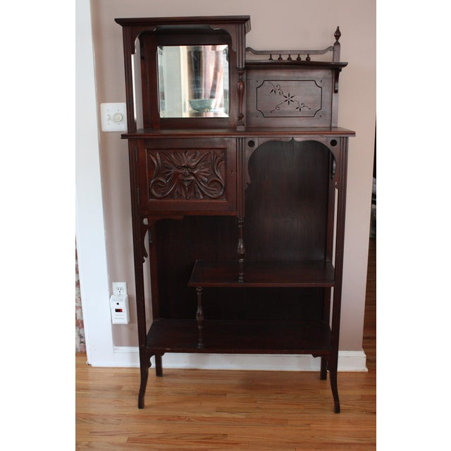 Antique Carved Mahogany Spindle Etagere - Image 2 of 4