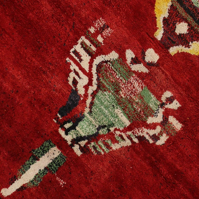 Moroccan Contemporary Abstract Design Berber Rug - 8′8″ × 11′2″ - Image 5 of 6