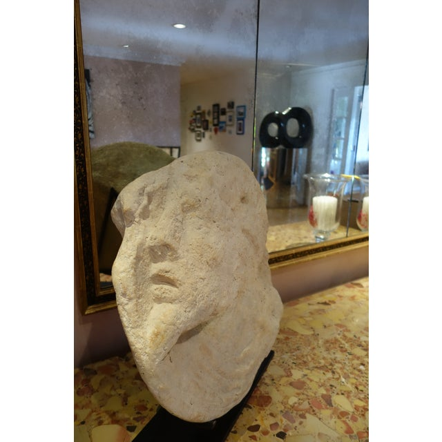 Michael Taylor Michael Taylor Designs Stone Sculpture with Stand For Sale - Image 4 of 7