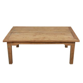 French Pine Farm Table Into Coffee Table For Sale