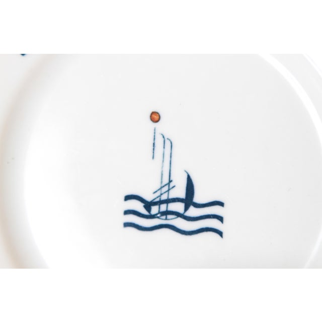 Pair Signed S.S. Leviathan Two-Piece Matched Serveware, Eugene Schoen and Lee Schoen by OPCO Syracuse China For Sale - Image 7 of 11