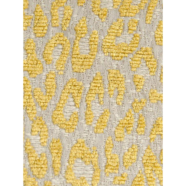 Sample, Scalamandre Leopard Misted Yellow Fabric For Sale