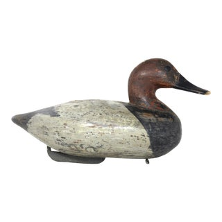 Antique Rustic Carved Wood Duck Decoy For Sale