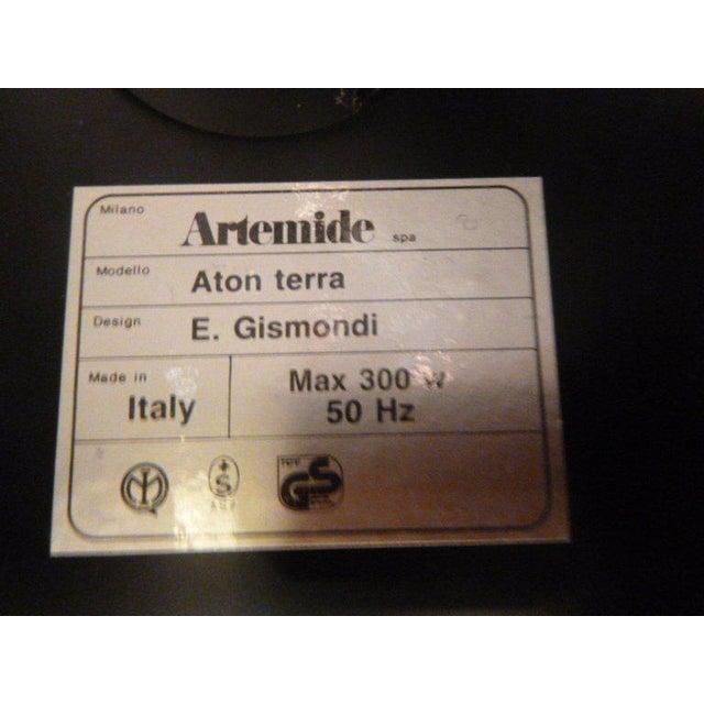 Black Vintage Artemide Minimalist Black Floor Lamp For Sale - Image 8 of 9