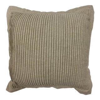Waterford Cotton & Linen Pleated Accent Pillow For Sale