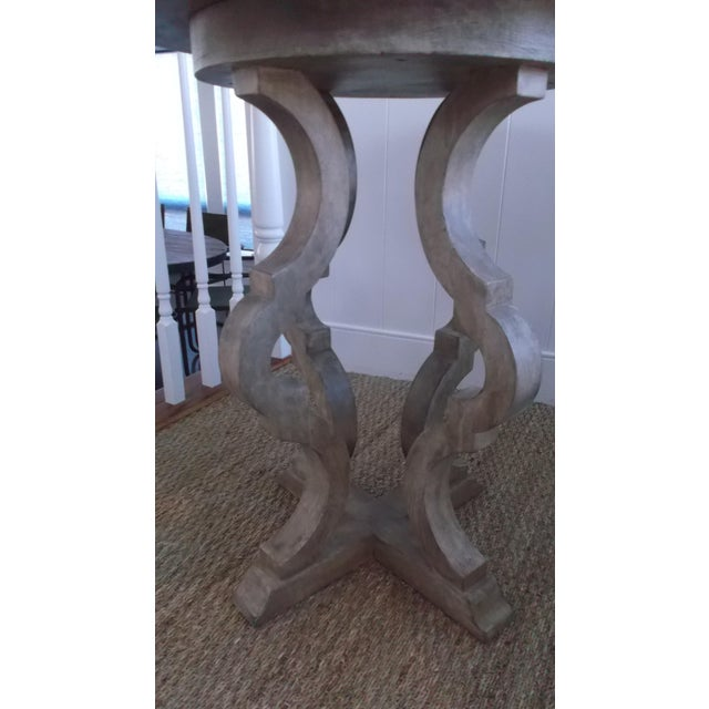 Custom made pedestal end table, Italian inspired, great in any room. Made locally in California. Wwould retail for $2,800.00.