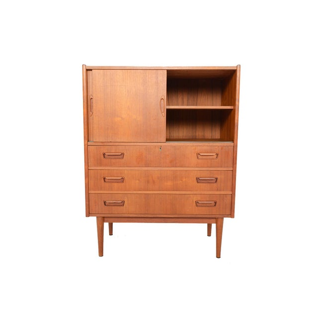 This Danish modern mid century teak bureau by Tibergaard is an incredibly versatile piece, perfect for any modern home!...