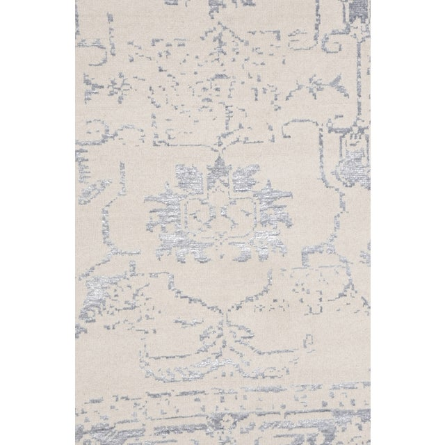 Pasargad's Silk Fusion Silk & Wool Rug - 6' X 9' - Image 4 of 5