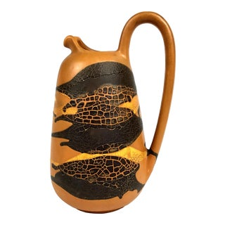 1970s Haeger Earth Wrap Collection Pitcher Vase For Sale