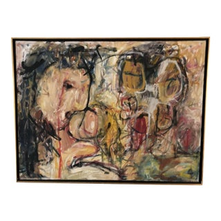 "Abstract Expressionist Painting ""Joy Luck,"" by Ellen Reinkraut For Sale"
