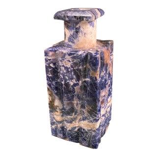 1970s Lapis Lazuli Italian Bottle For Sale