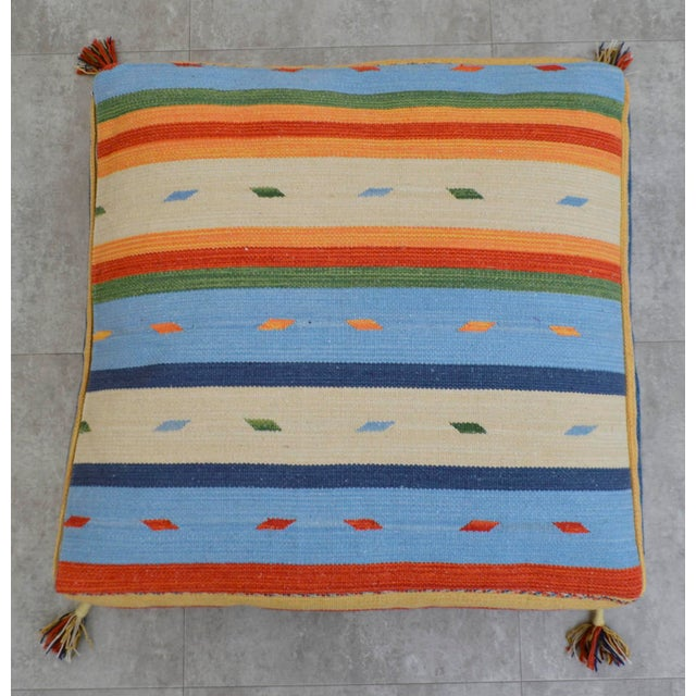 Turkish Hand Woven Kilim Floor Pillow - 30? X 30? Chairish