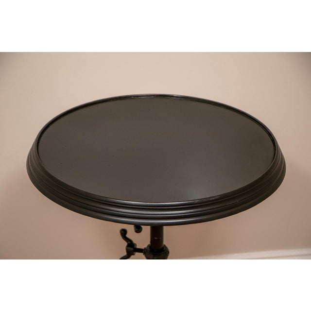 18th C French Restoration Hardware Brasserie Industrial Tilt Top Table For Sale In New York - Image 6 of 9