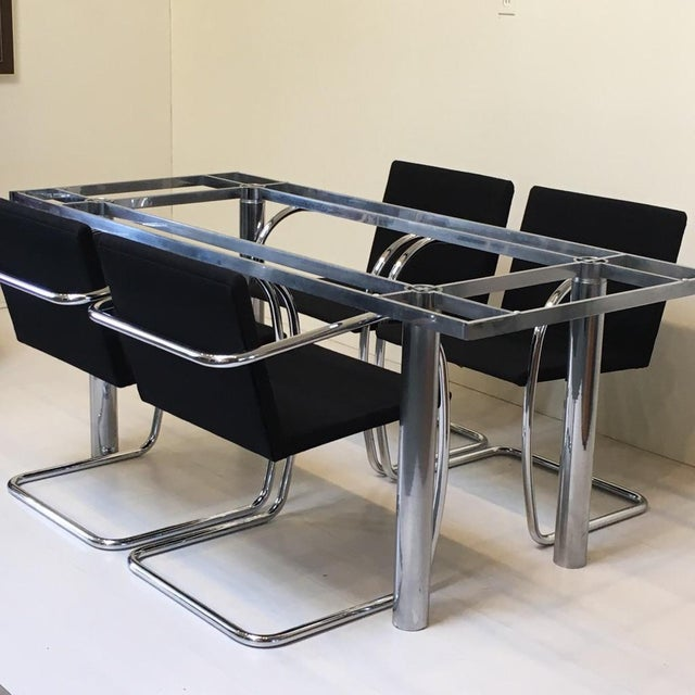 """Knoll """"Andre"""" Chrome Dining Table Base For Sale - Image 5 of 5"""