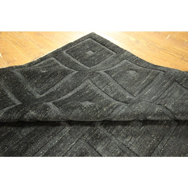"Square Black Gabbeh Kashkuli Rug - 6'8"" x 10' - Image 9 of 10"