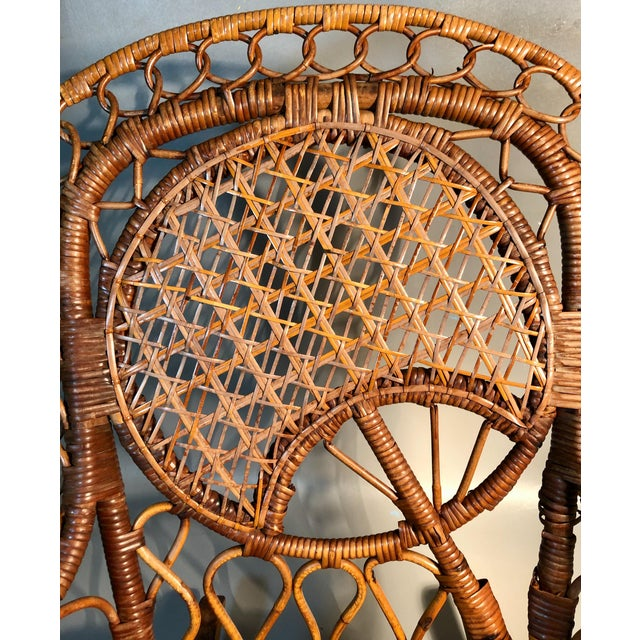 Victorian Late 19th Century C1860 Victorian Childs Rocking Chair Wicker Rattan Rocker Attrib. To Heywood Wakefield For Sale - Image 3 of 8