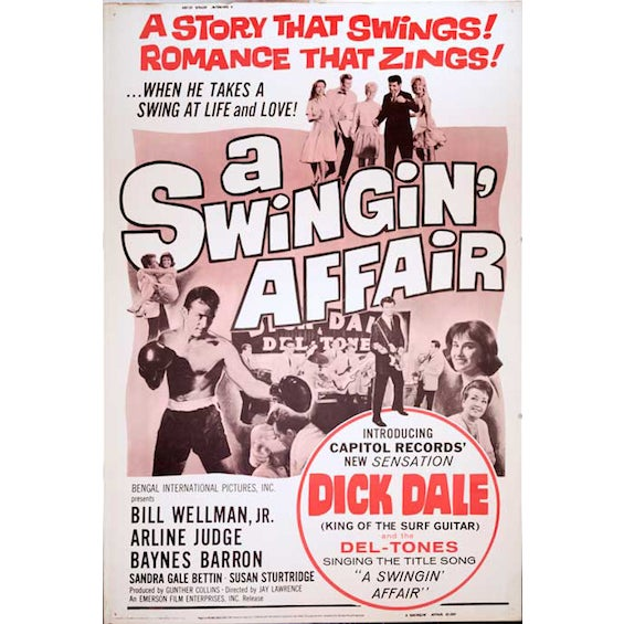 A Swingin' Affair 1963 Movie Poster - Image 1 of 2