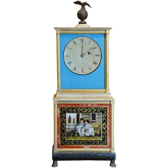 Rare and Important Aaron Willard Massachusetts Federal Shelf Bride's Clock, ca 1820 - Image 6 of 6