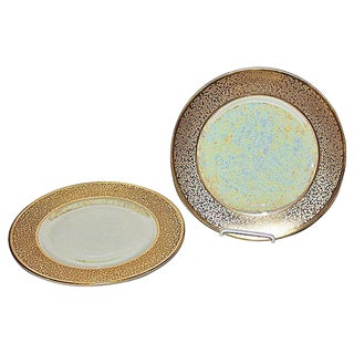 Iridescent Gilt Chargers- A Pair