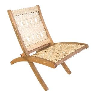 1970s Vintage Macrame Folding Chair For Sale