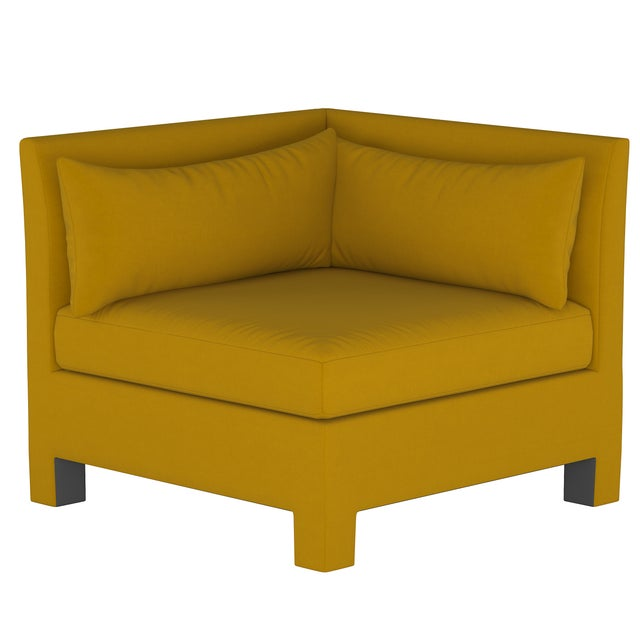4 Piece Sectional , Monaco Citronella For Sale In Chicago - Image 6 of 9