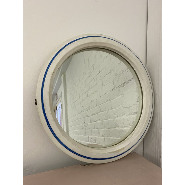 Nautical Vintage 1960s Nautical Porthole Mirror For Sale - Image 3 of 10
